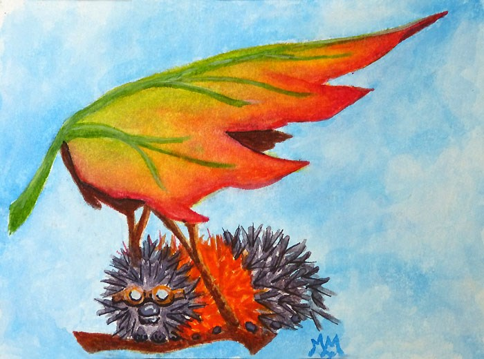 """Preparing For Wings"" original fine art by Monique Morin Matson"