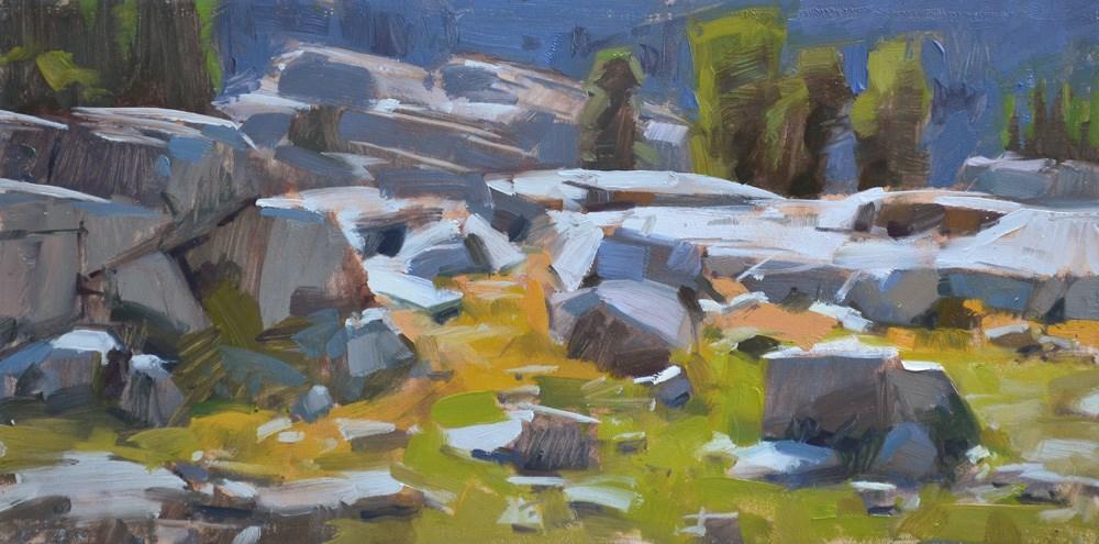 """Rock Blocks"" original fine art by Carol Marine"