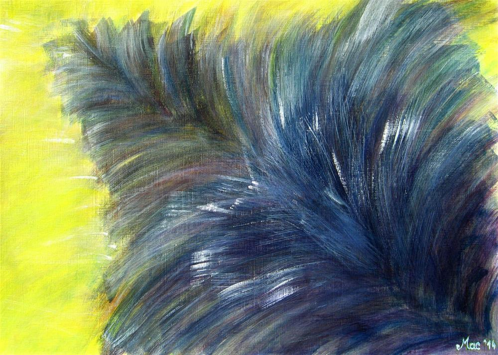 """Fluffy"" original fine art by Alina Frent"