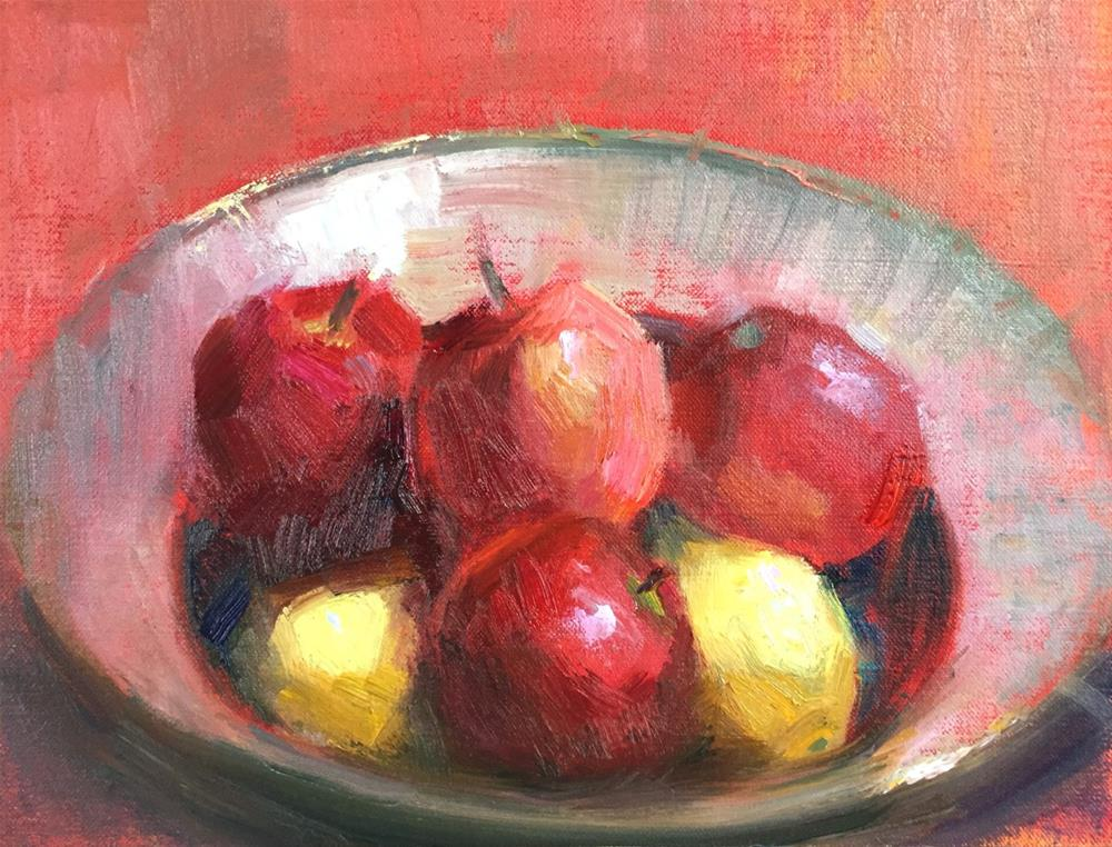 """Apple Pies"" original fine art by Johanna Spinks"