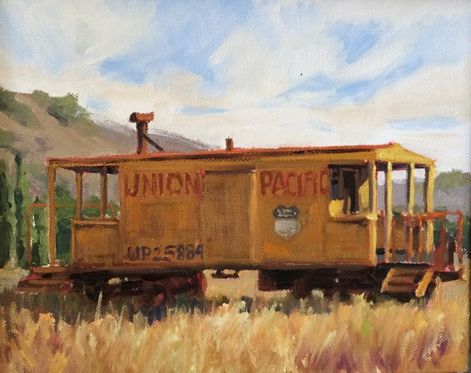 """Union Pacific"" original fine art by Deborah Newman"