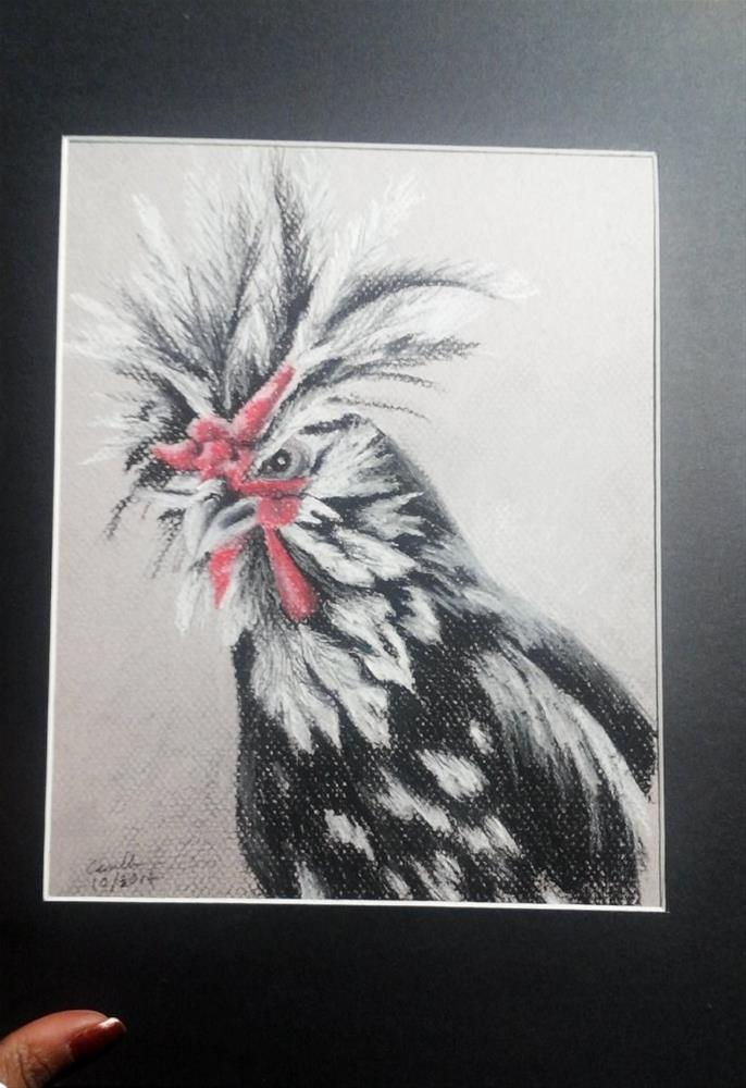 """Rooster"" original fine art by Camille Morgan"