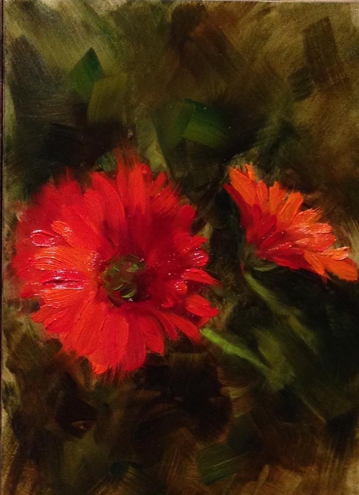 """Gerber Daisies"" original fine art by Dorothy Woolbright"