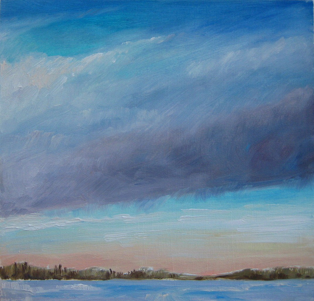 """January Sunrise"" original fine art by Nicki Ault"