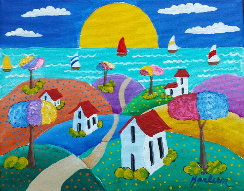 """Sunny on the Coast"" original fine art by Karleen Kareem"