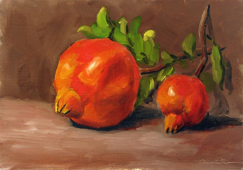 """""""Dos granadas"""" original fine art by Eduardo Carpintero"""