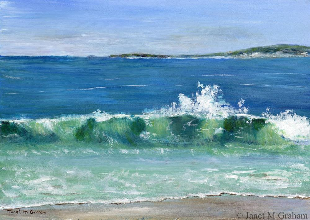 """Tasmanian Coast"" original fine art by Janet Graham"