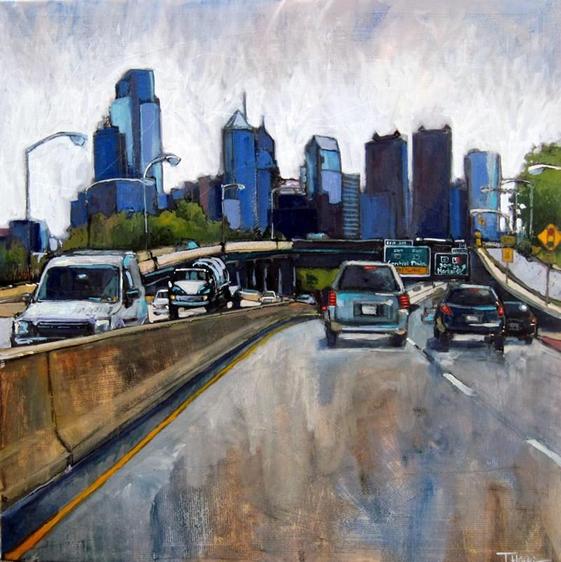 """""""Modern Mountains"""" original fine art by Teresa Haag"""