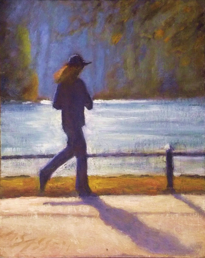 """Morning Run"" original fine art by Michael Sason"