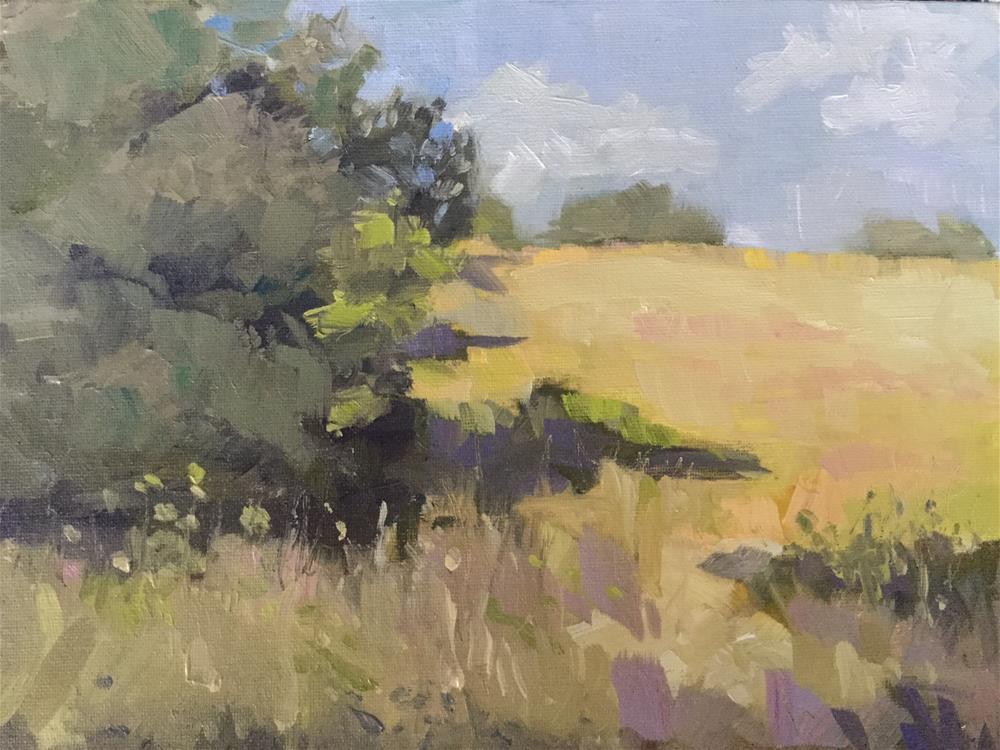 """""""Oxbow Meadow"""" original fine art by Barb Walker"""