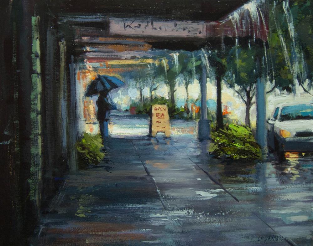 """""""April Downpour"""" original fine art by Joseph Loganbill"""