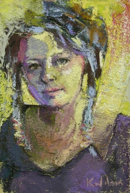 """""""Hair Strings"""" original fine art by Katie Wilson"""