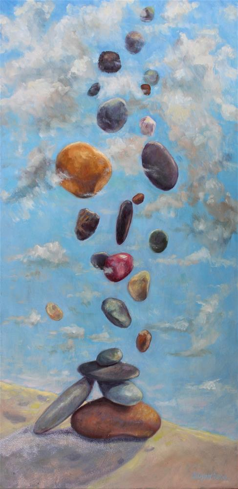 """Rock Fall"" original fine art by Allison Doke"