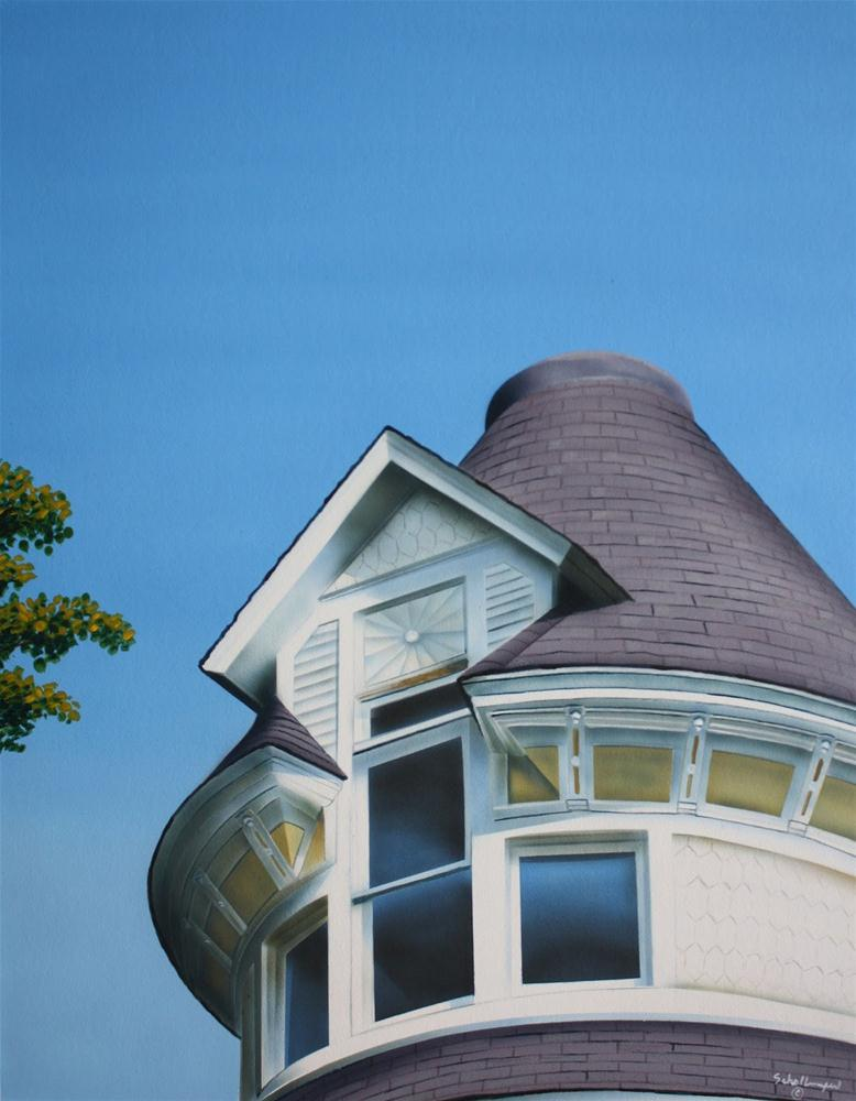 """House on the Hill (Third Floor)"" original fine art by Fred Schollmeyer"