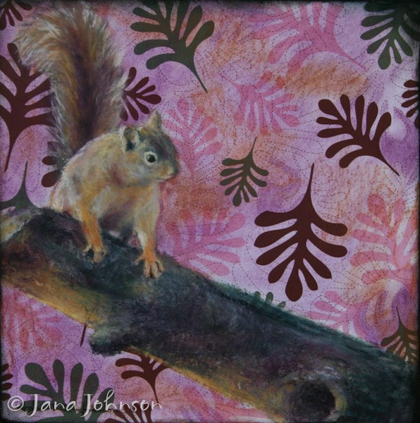 """Squirrel!"" original fine art by Jana Johnson"