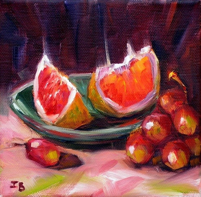 """Grapefruit"" original fine art by Irina Beskina"