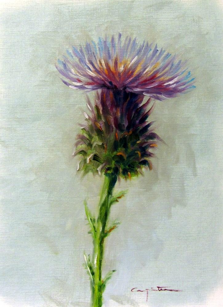 """""""Flor de cardo"""" original fine art by Eduardo Carpintero"""