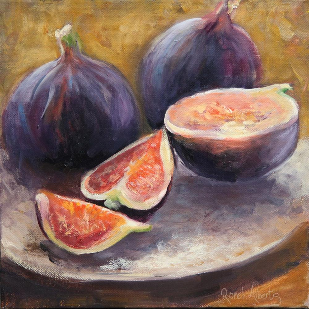 """Juicy figs"" original fine art by Ronel Alberts"