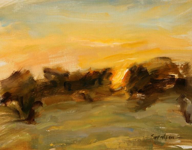 """Between the Trees"" original fine art by Scott Serafica"