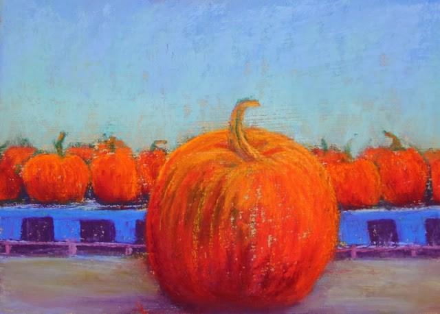 """It's the Great Pumpkin!"""" original fine art by Sharon Lewis"