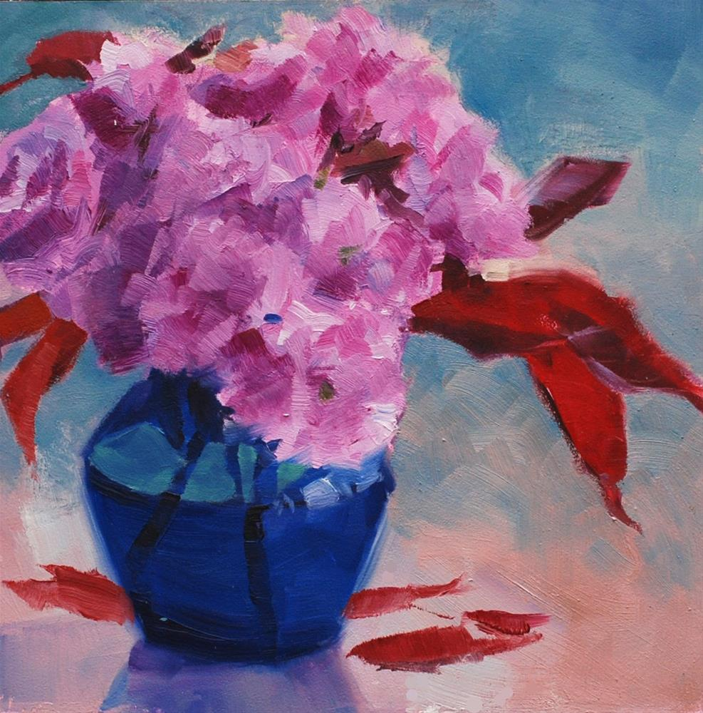 """Double Cherry Blossoms"" original fine art by Susan McManamen"