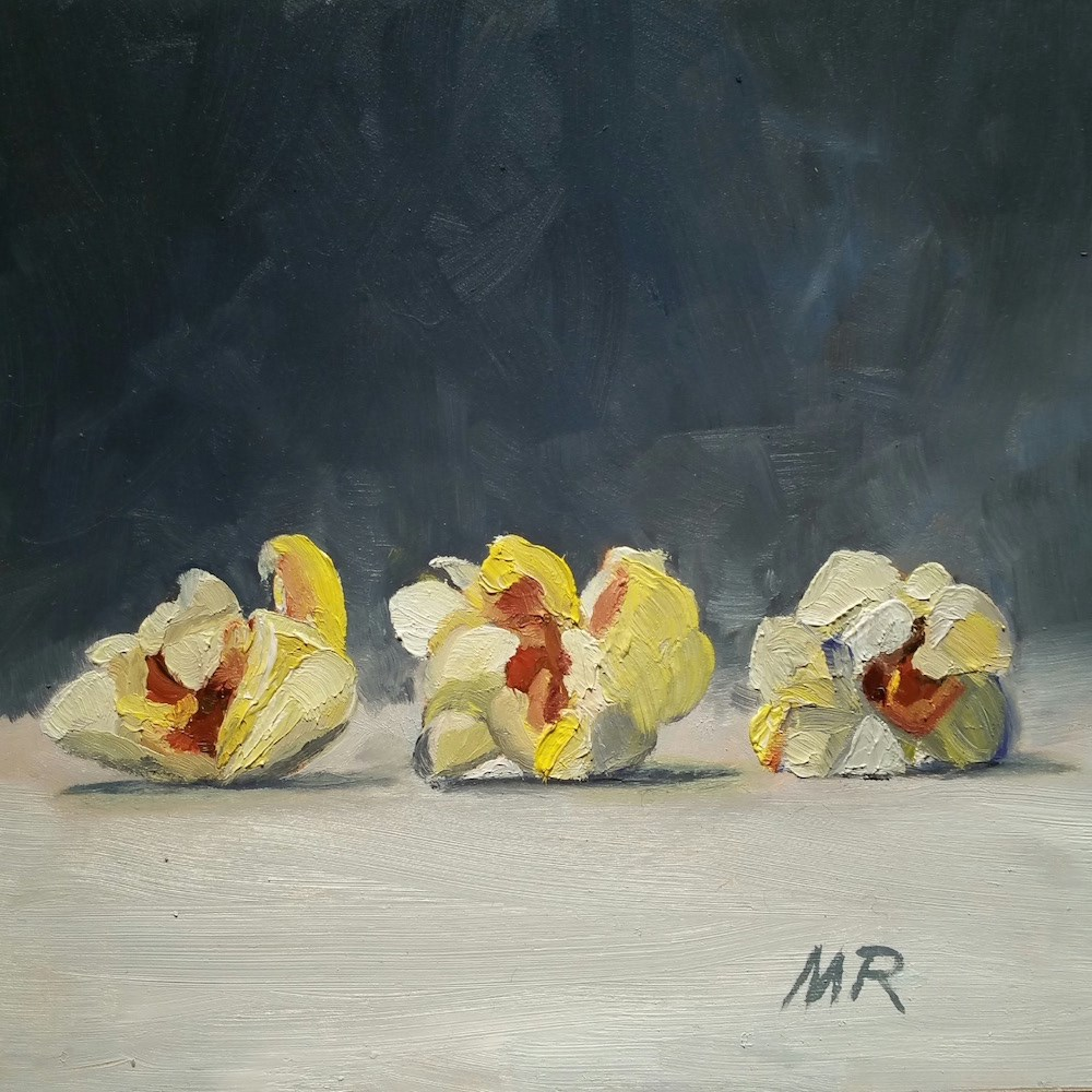 """Popcorn Parade"" original fine art by Michelle Rideout"