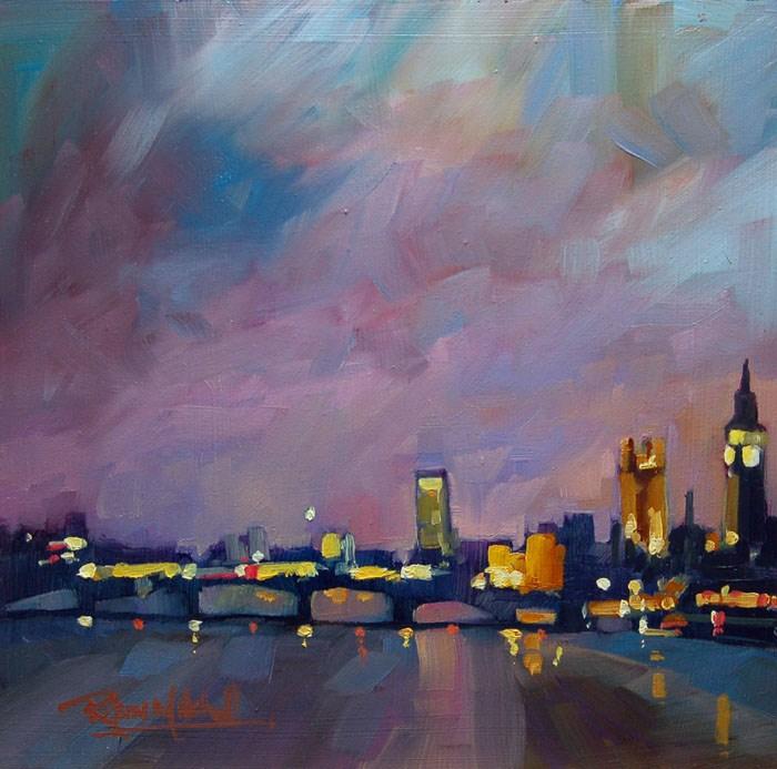"""No 498 Big Ben watching"" original fine art by Robin J Mitchell"