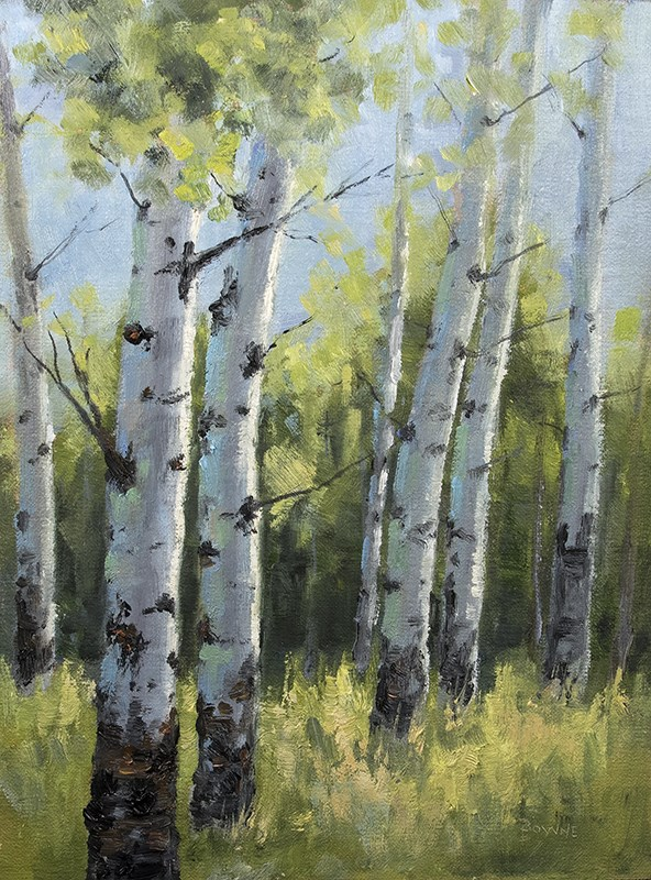 """Late Summer in the Aspens"" original fine art by Bonnie Bowne"