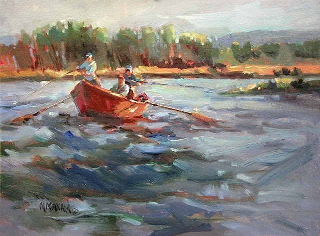 """First Day Out"" original fine art by Mary Maxam"