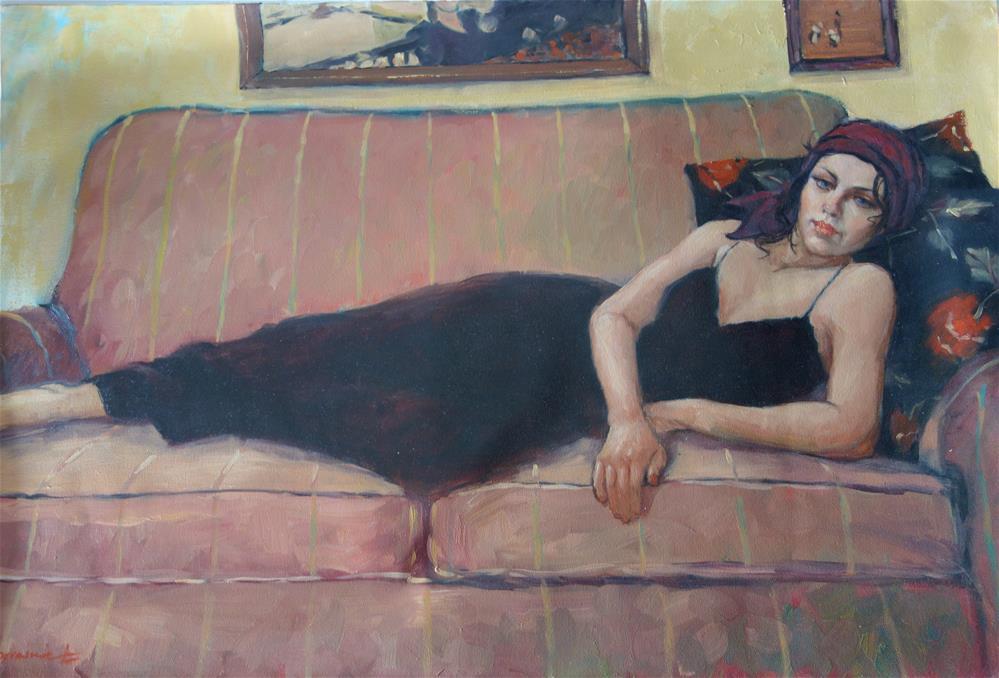 """""""Pink Lounge"""" original fine art by Lorraine Lewitzka"""