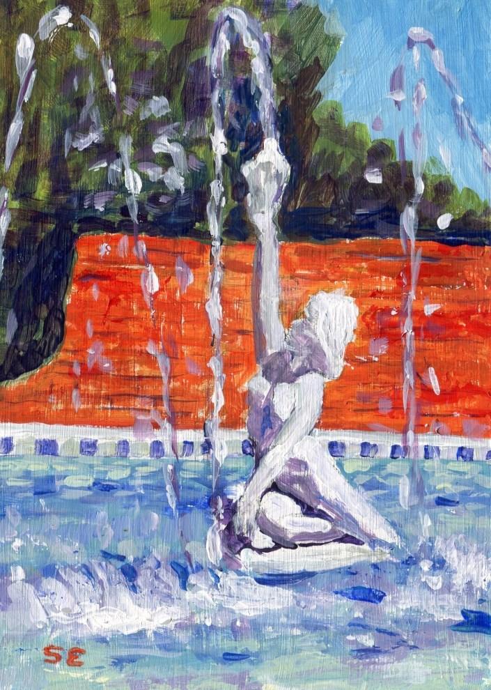 """Wondrous Water"" original fine art by Stanley Epperson"