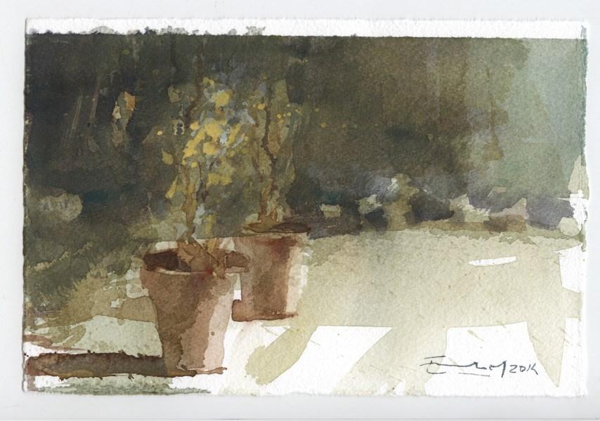 """""""garden 11"""" original fine art by Emilio López"""