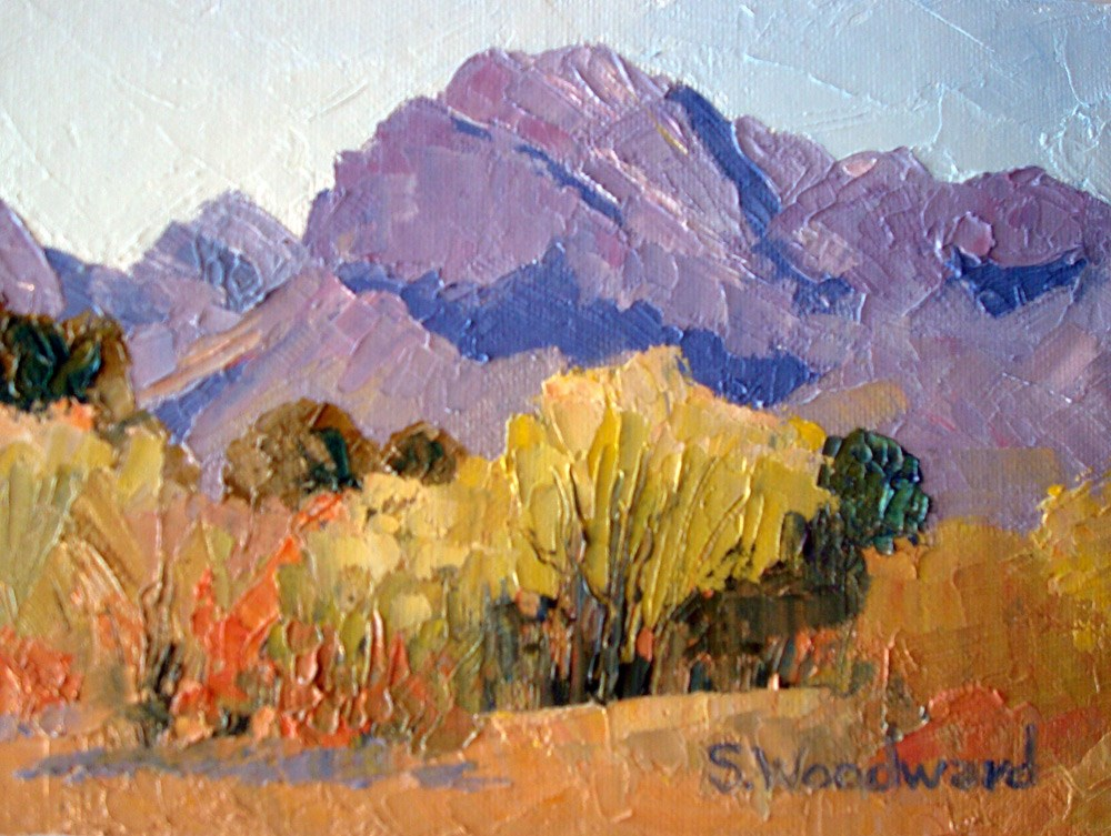 """Pusch Ridge"" original fine art by Susan Woodward"