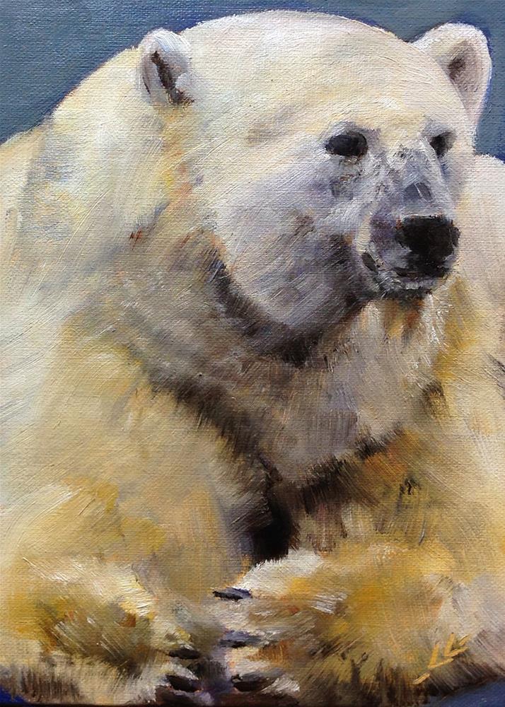 """Big Bear"" original fine art by Linda Lowery"