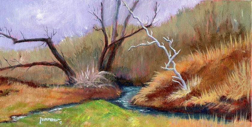 """ORIGINAL PAINTING OLD WALNUTS ON GUM SPRINGS"" original fine art by Sue Furrow"