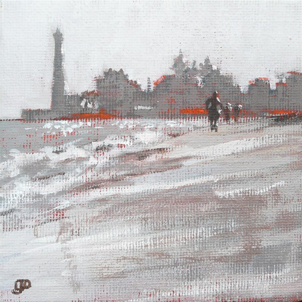 """Beach Walkers"" original fine art by Leanne Owen"