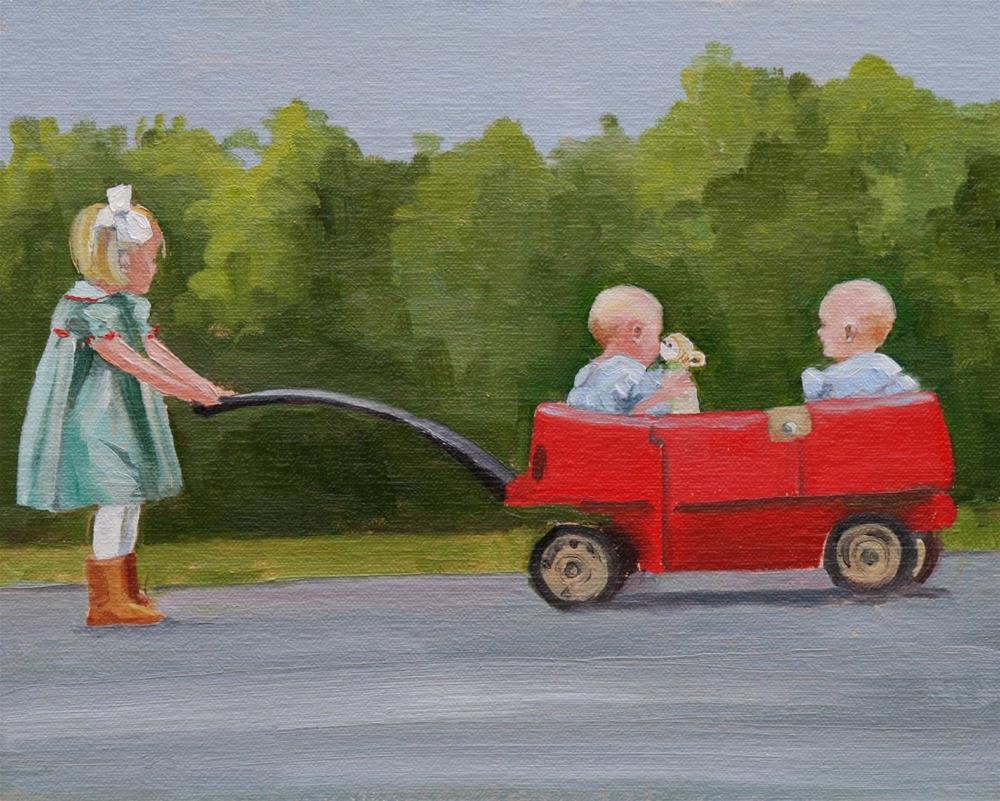"""""""precious cargo"""" original fine art by Carol Carmichael"""