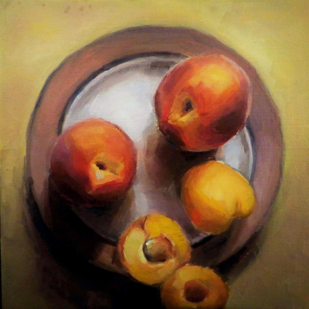 """Peaches"" original fine art by Maria Z."