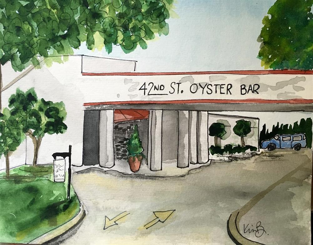 """#11 - 30 in 30 42st Oyster Bar in Watercolors"" original fine art by Kimberly Balentine"