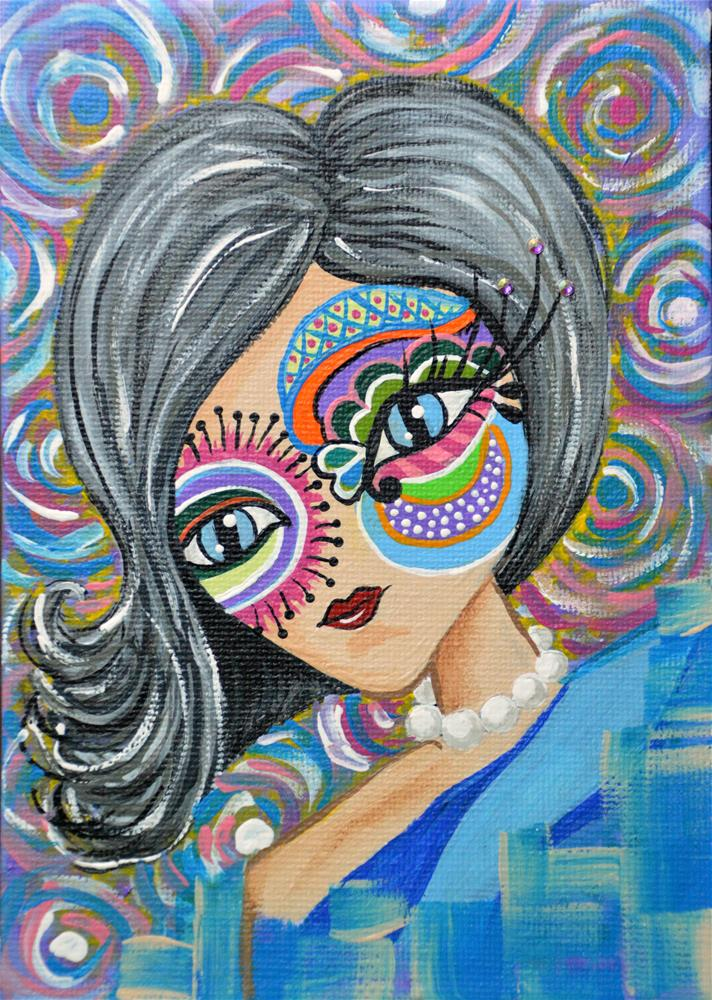 """She Always Wore Blinders"" original fine art by Jodi Workman"