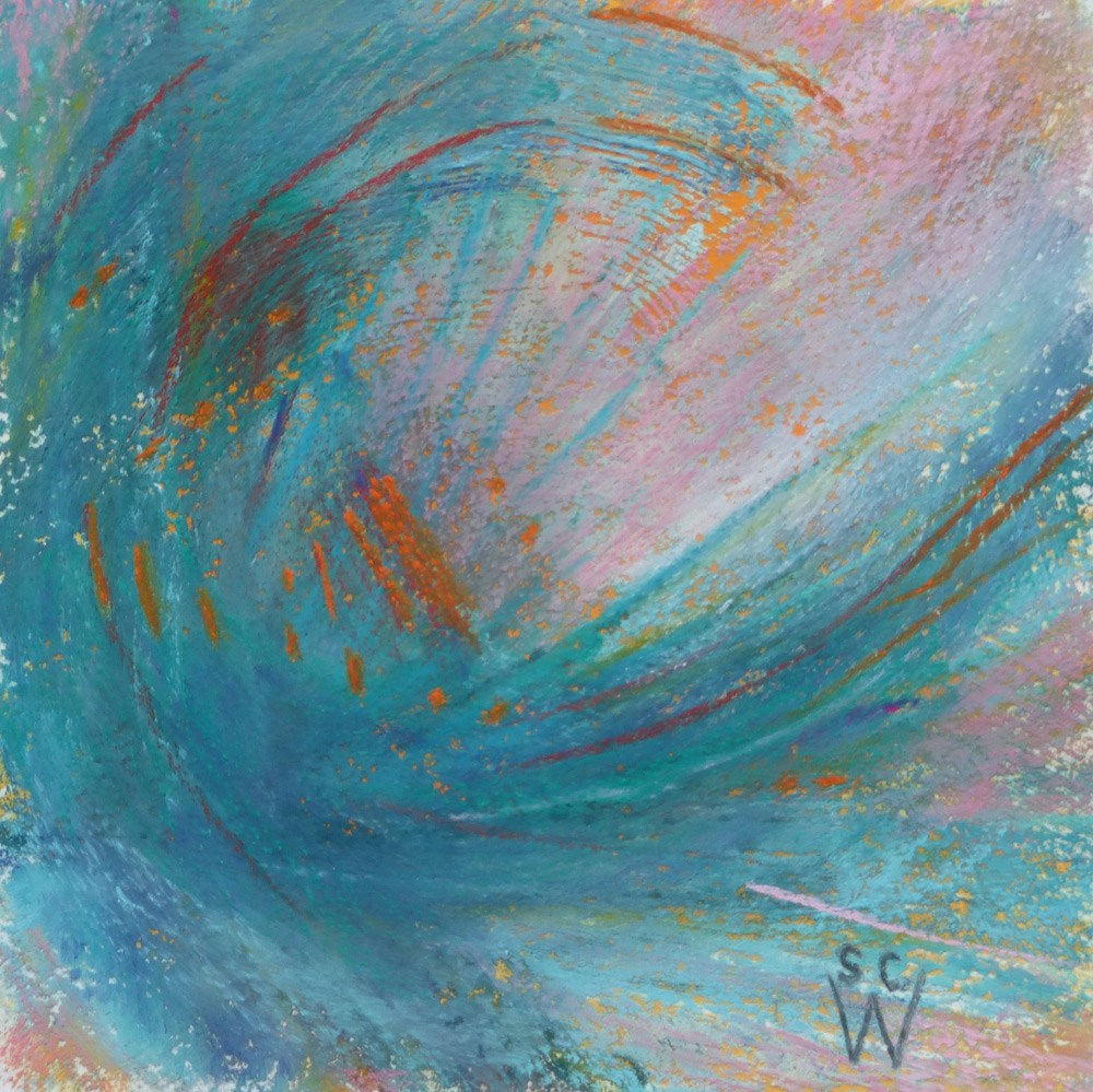 """Turquoise Curl"" original fine art by Susan Woodward"