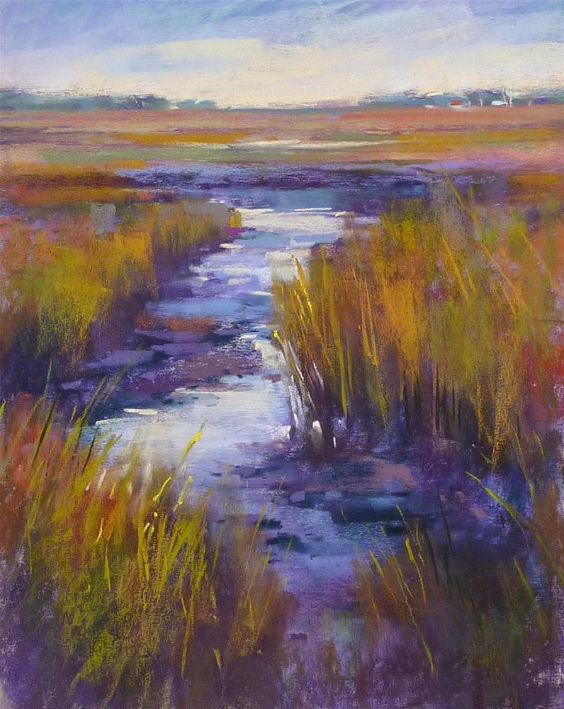 """Simplifying a Marsh...Painting Tip"" original fine art by Karen Margulis"