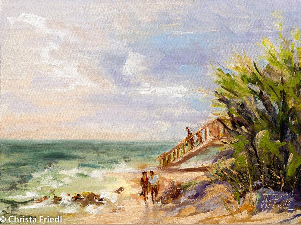"""Caspersen Beach, Florida"" original fine art by Christa Friedl"