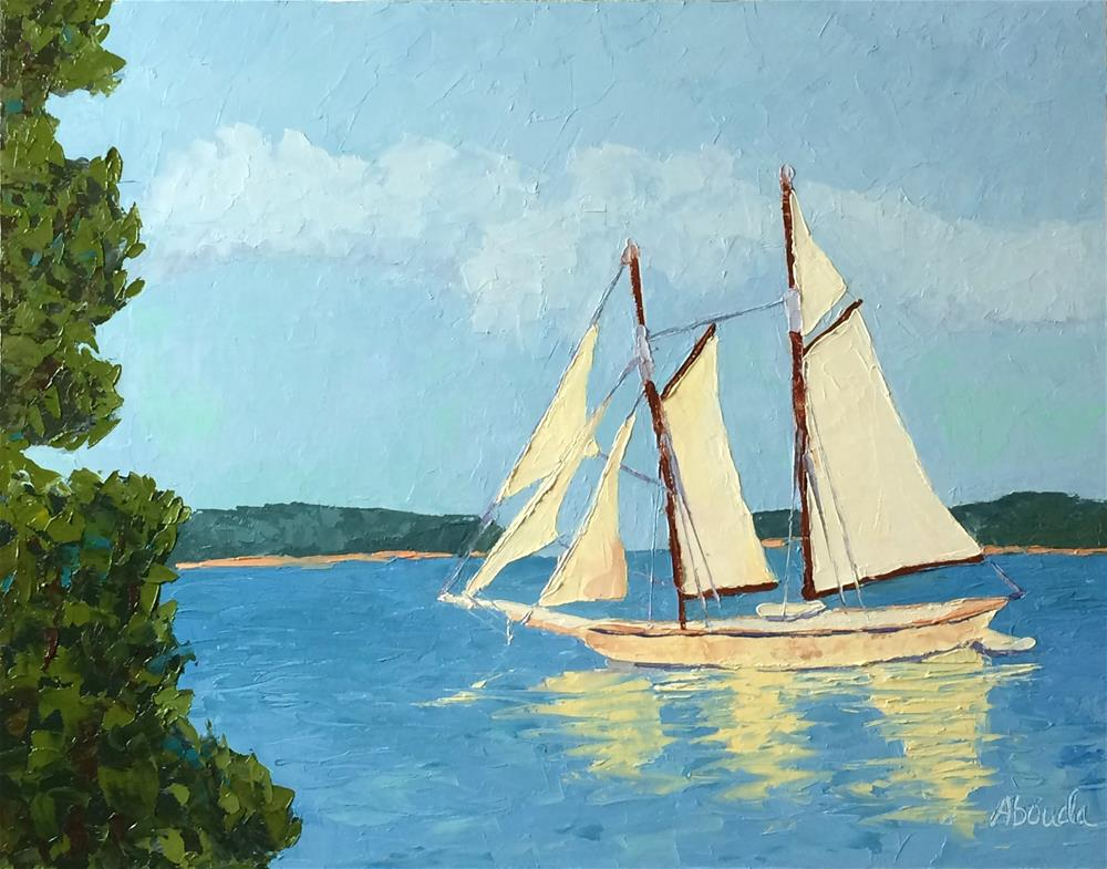 """Majestic Sailboat"" original fine art by Sandy Abouda"