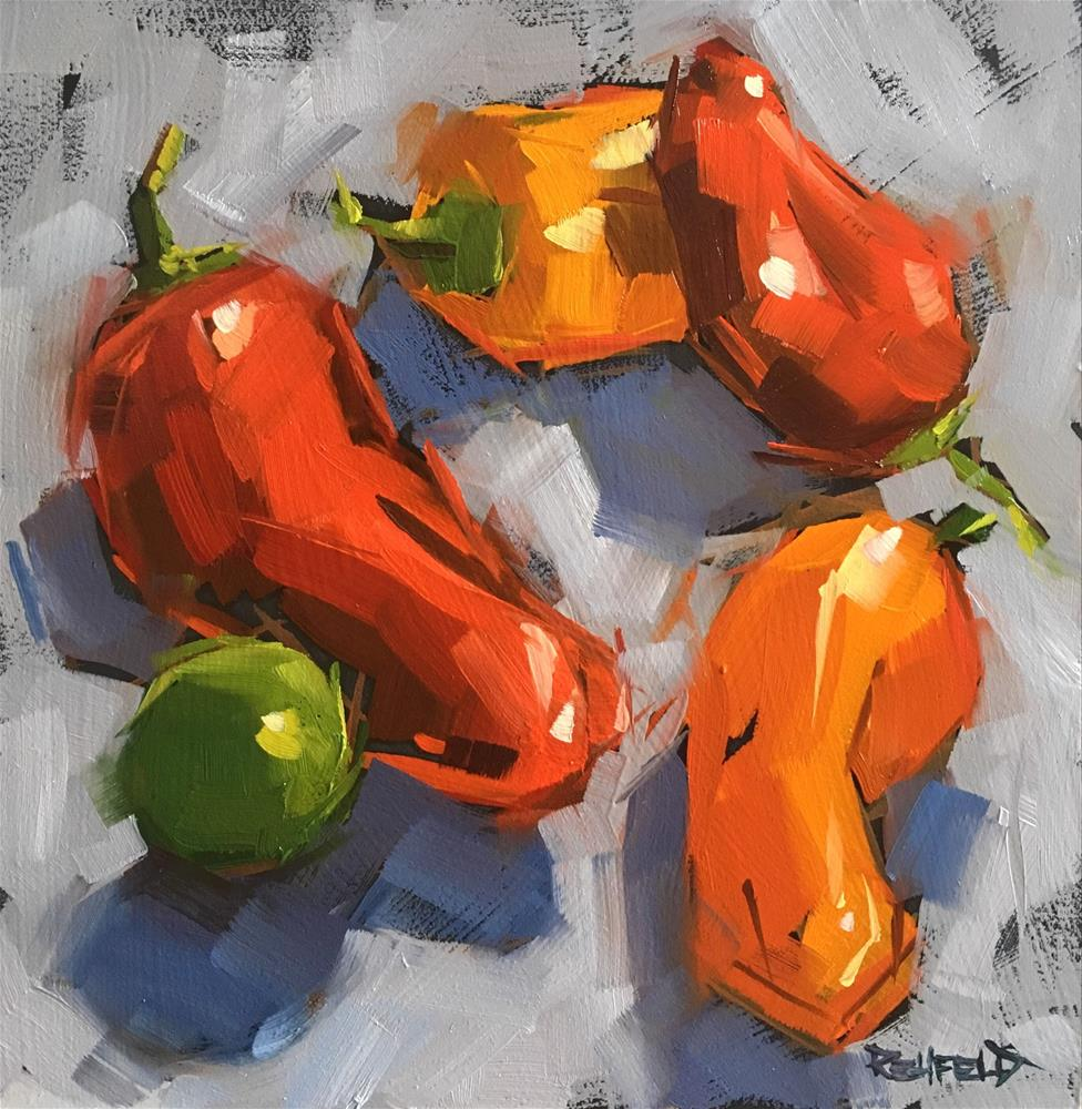 """Pepper Tango with Lime"" original fine art by Cathleen Rehfeld"