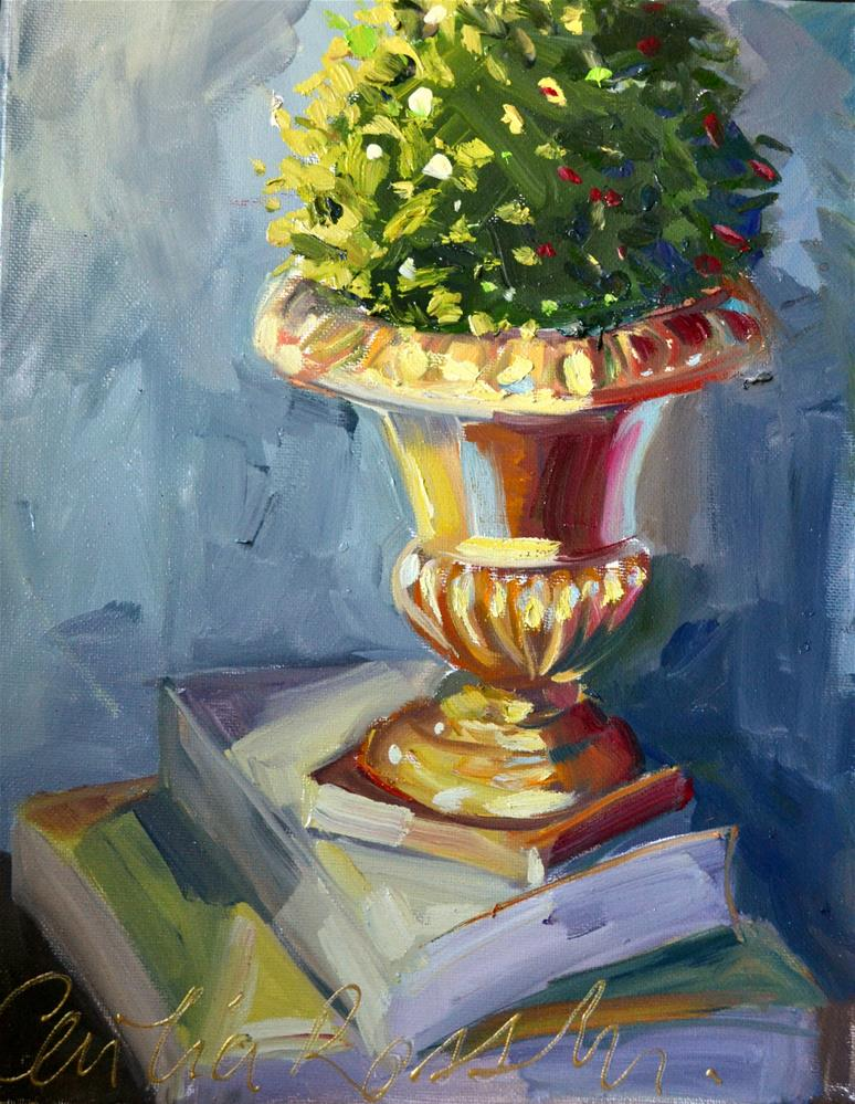 """""""TOPIARY"""" original fine art by Cecilia Rosslee"""