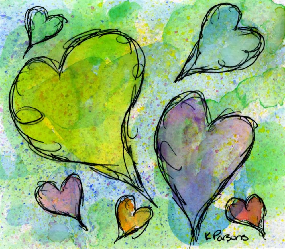 """Love is in the Air"" original fine art by Kali Parsons"