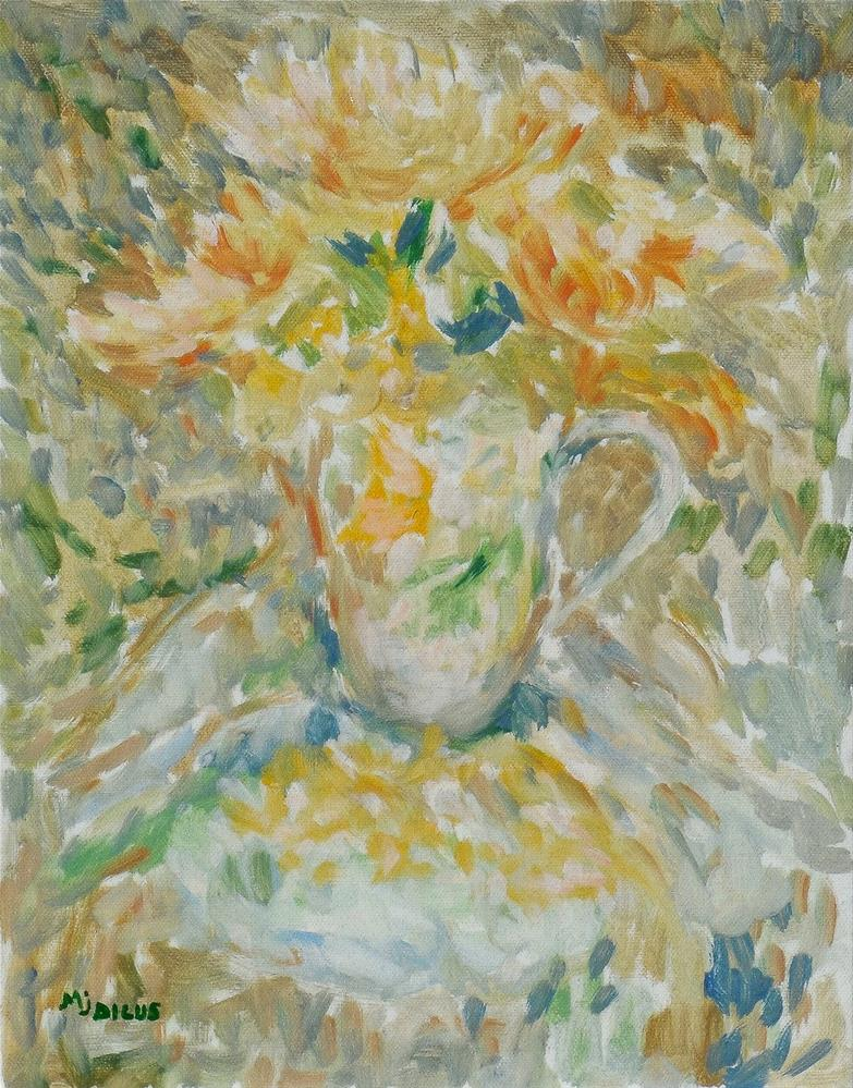 """Teacup and Roses"" original fine art by Mj Dicus"