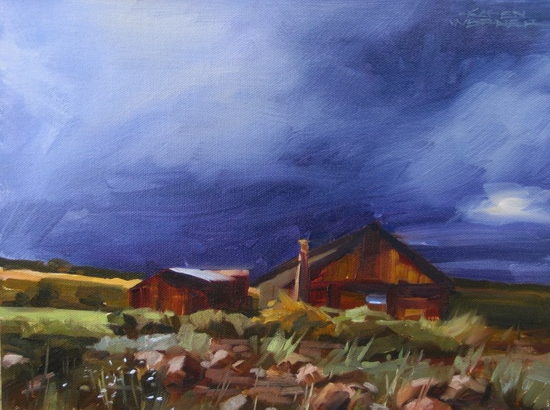 """Rocky Range Ranch"" original fine art by Karen Werner"
