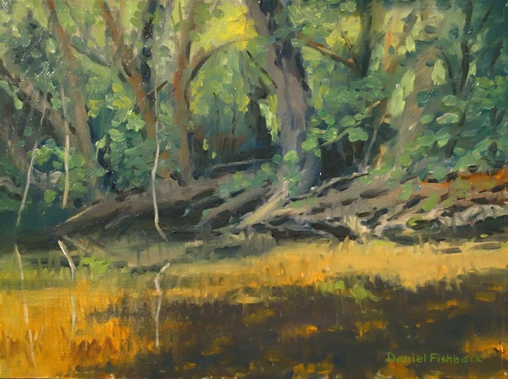 """""""Flint Creek en plein air"""" original fine art by Daniel Fishback"""